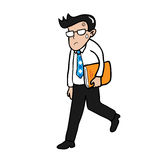 Businessman holding folder royalty free illustration