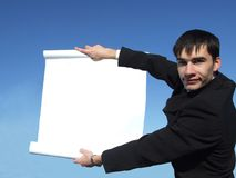 Businessman holding Frame Stock Photo