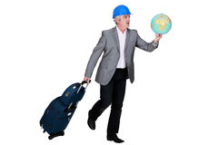 Businessman holding a globe Royalty Free Stock Photography