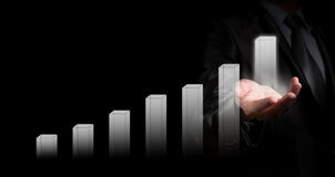 Businessman holding graph, business concept Royalty Free Stock Photo