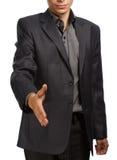 Businessman holding hand for handshake Stock Images