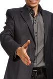 Businessman holding hand for handshake Stock Photography