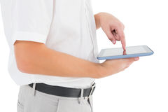 Businessman holding his digital tablet Royalty Free Stock Photography