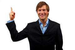 Businessman holding with his f Stock Photo