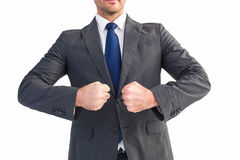 Businessman holding his hands out Stock Photography