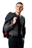 Businessman holding jacket over his shoulder Stock Photography