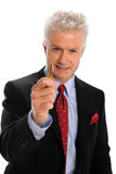 Businessman Holding Key Stock Photo