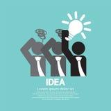 Businessman Holding A Light Bulb Idea Concept Royalty Free Stock Photo