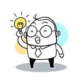 Businessman holding lightbulb Stock Photography