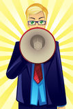Businessman holding megaphone Royalty Free Stock Images