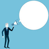 Businessman holding a megaphone Royalty Free Stock Images