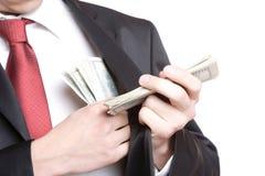 Businessman Holding Money Stock Photos