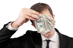 Businessman holding money Stock Photos