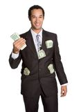 Businessman Holding Money Royalty Free Stock Photo