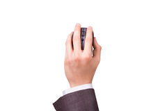 Businessman Holding Mouse Royalty Free Stock Photo
