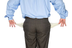 Businessman holding out empty Stock Photo