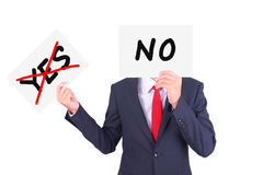 Businessman holding paper Stock Image