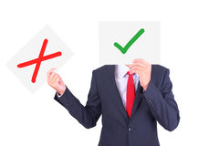 Businessman holding paper Royalty Free Stock Photography