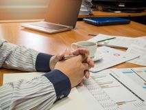 Businessman holding a pen Royalty Free Stock Photo