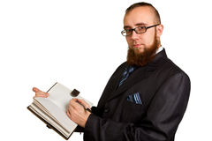 Businessman holding a pen Royalty Free Stock Photography