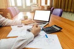 Businessman holding a pen Stock Images