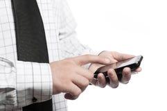 Businessman holding phone Stock Photos