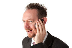 Businessman Holding A Phone To His Ear Stock Photography