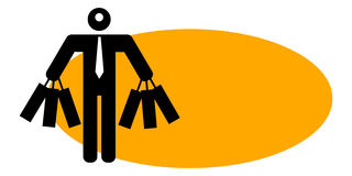 Businessman holding shopping bags Stock Photography