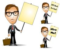 Businessman Holding Sign Stock Photos