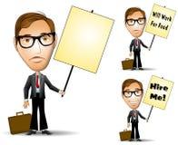 Businessman Holding Sign vector illustration