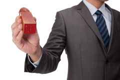 Businessman holding signet Stock Photo