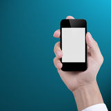 Businessman holding Smart phone Stock Photography