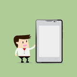 Businessman holding smartphone. Royalty Free Stock Image
