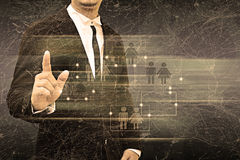 Businessman holding social network Stock Images