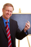 Businessman holding a speech Royalty Free Stock Images