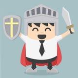 Businessman holding sword Stock Photo