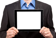 Businessman holding a tablet Stock Image