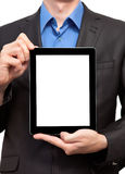 Businessman holding a tablet Royalty Free Stock Images