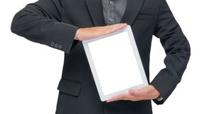 Businessman holding tablet Stock Photography