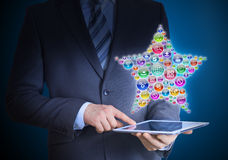 Businessman holding tablet in his hands Royalty Free Stock Image
