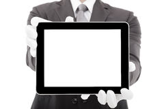 Businessman holding tablet pc Royalty Free Stock Images