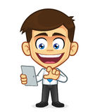 Businessman holding tablet pc Royalty Free Stock Image