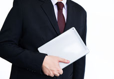 Businessman holding tablet Royalty Free Stock Photo