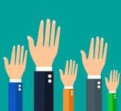 Businessman holding their hands up. Vector Royalty Free Stock Image