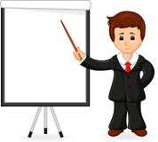 Businessman holding training Royalty Free Stock Images