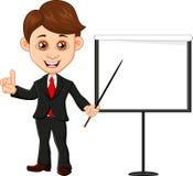 Businessman holding training. Illustration of Businessman holding training Royalty Free Stock Photography