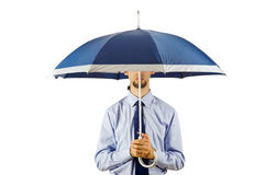 Businessman holding umbrella Royalty Free Stock Image