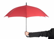 Businessman holding umbrella Royalty Free Stock Photo