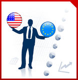 Businessman Holding United States Stock Images