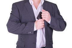 Businessman holding wallet Royalty Free Stock Photos